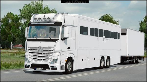 Mercedes Actros MP4 Motorhome ETS 2