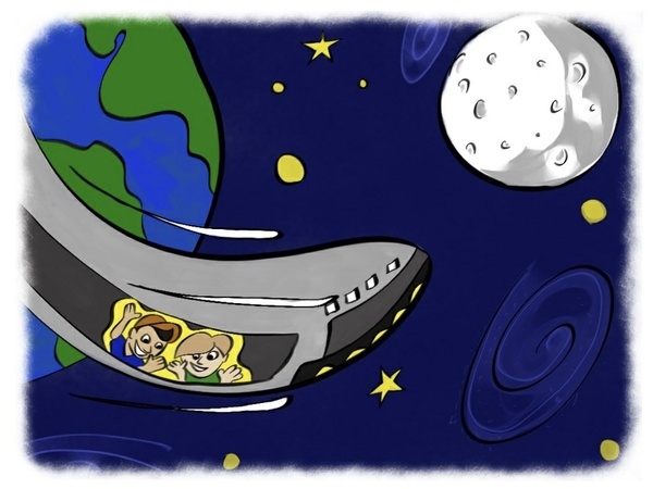 Aedan and Jacob Space Adventure