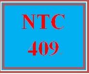 NTC 409 Week 2 Individual Determining Business Network Needs