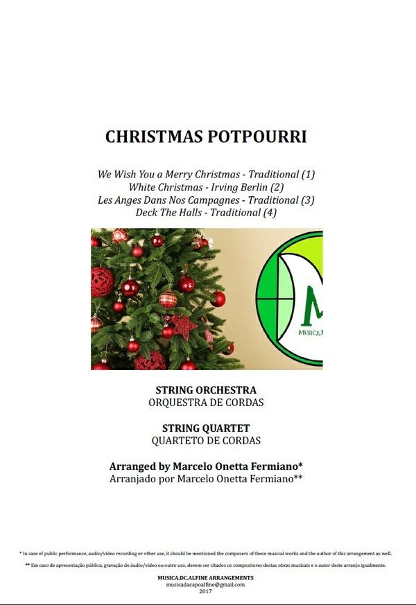 PotPourri de Natal | Orquestra de Cordas ou Quarteto de Cordas | Grade e Partes | Arranjo Completo