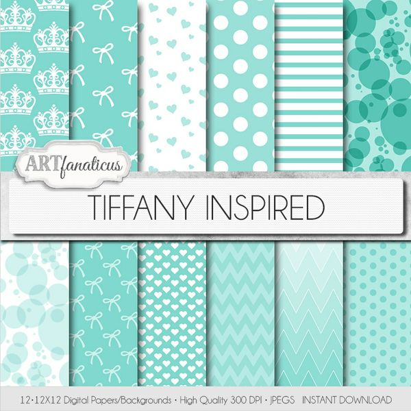 TIFFANY INSPIRED - DIGITAL PAPER