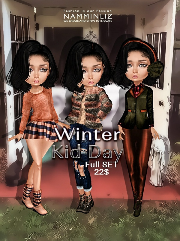 Winter Kid Day Full Set ( Pants + Shoes ) JPG textures NAMMINLIZ file sale