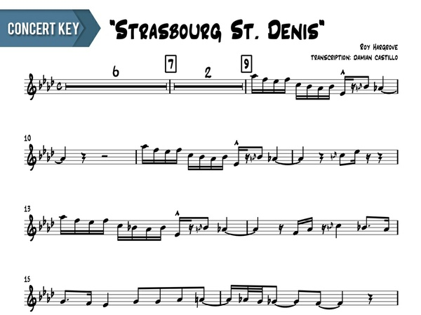 "Roy Hargrove - ""Strasbourg St. Denis"" - Concert Key"