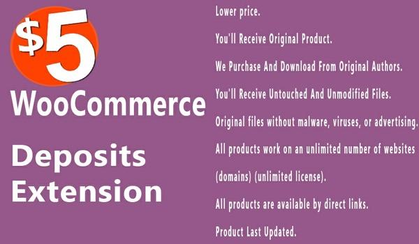 WooCommerce Deposits 1.3.6 Extension