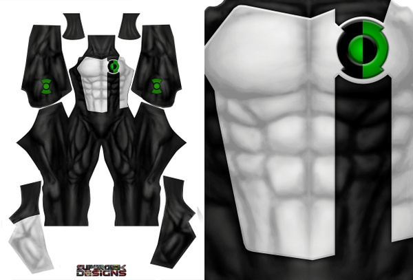 GREEN LANTERN (new muscle base, no textures) pattern file