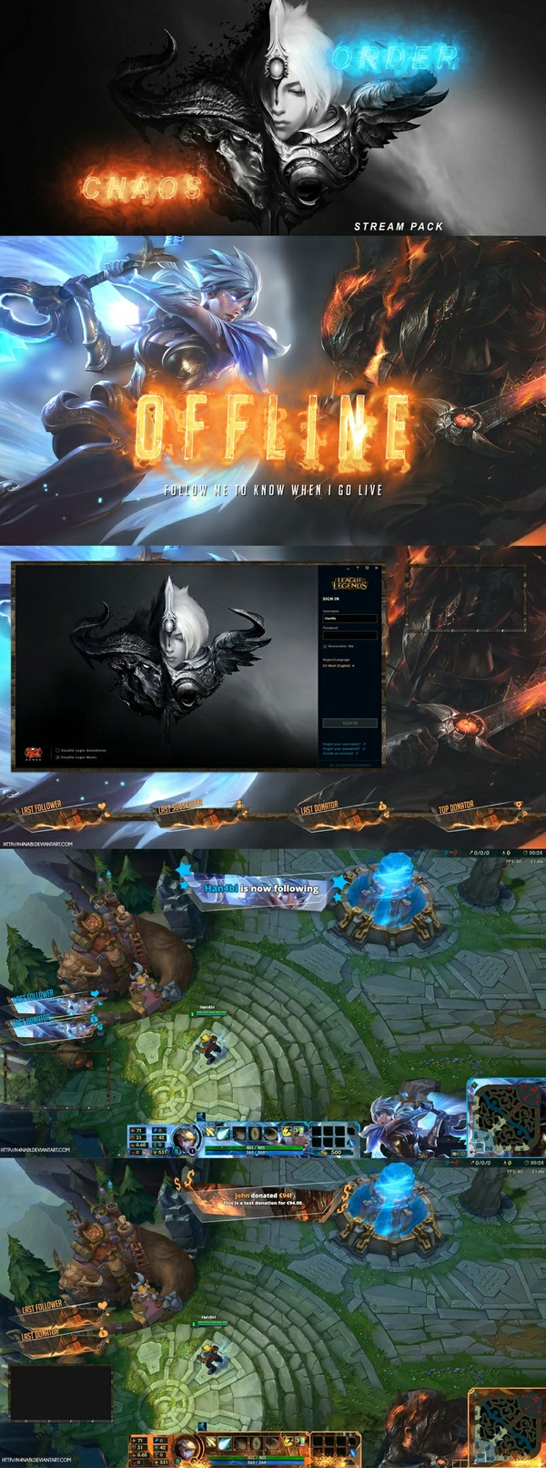 Chaos/Order - League of Legends PRO Stream Pack