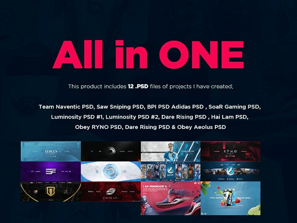 All In One - PSD packs