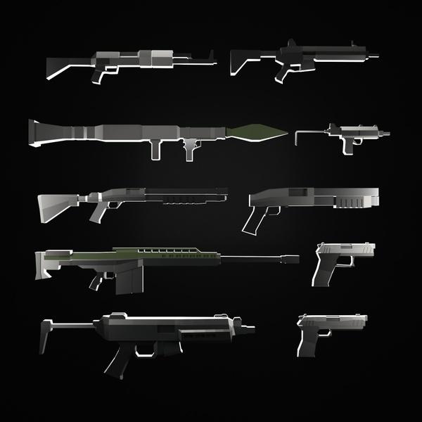 Minecraft Lowpoly Guns
