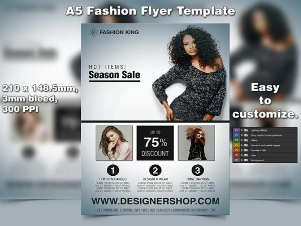 Fashion Flyer Template (A5 PSD)