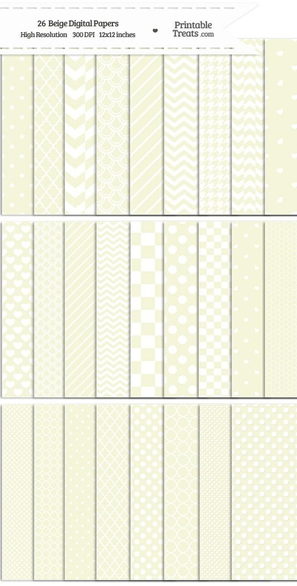 26 Beige Digital Paper Set Password