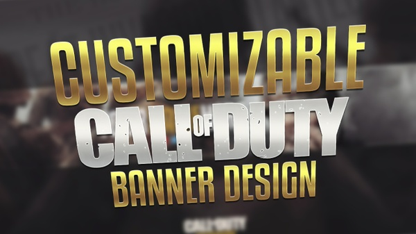 Call of Duty WWII Banner Template
