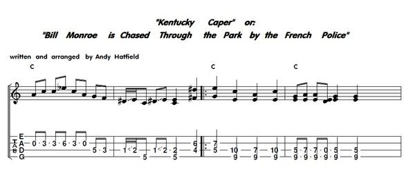 Kentucky Caper Mandolin Tab by Andy Hatfield