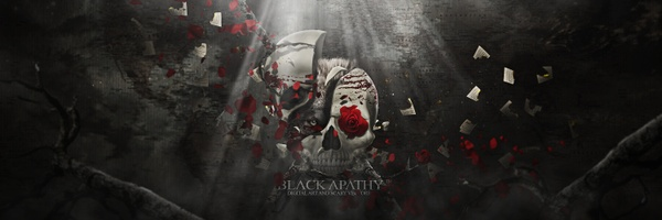 Black Apathy Header PSD
