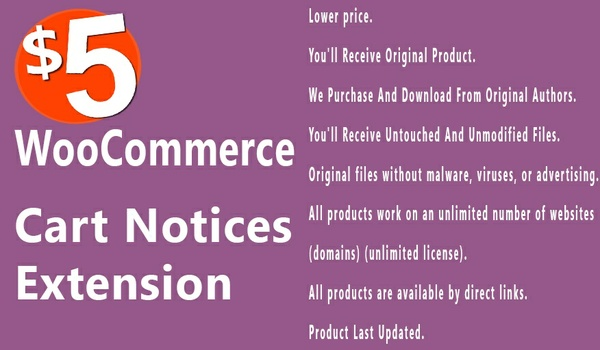 WooCommerce Cart Notices 1.8.2 Extension