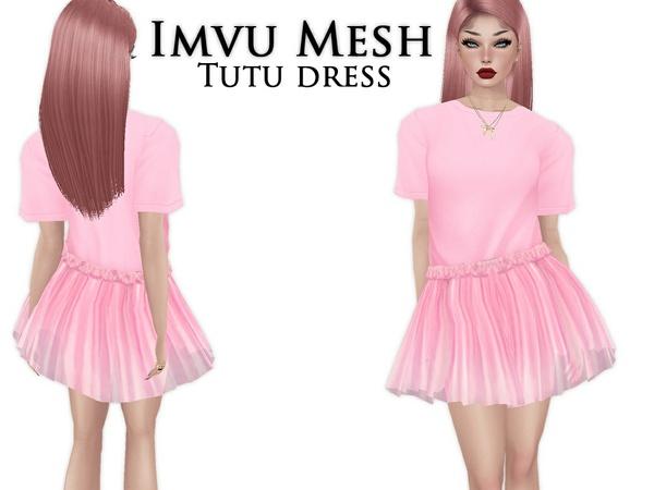 IMVU Mesh - Outfit - TuTu Dress