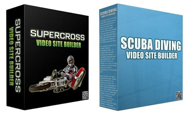 2 Video Site Builders:  Scuba Diving Video Site Builder and Supercross Video Site Builder