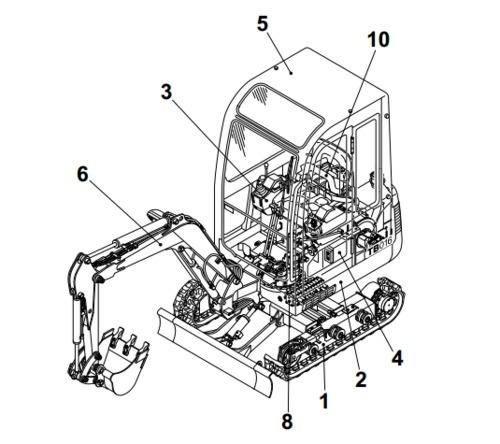 Takeuchi TB153FR Compact Excavator Parts Manual (Serial No.15820004-)