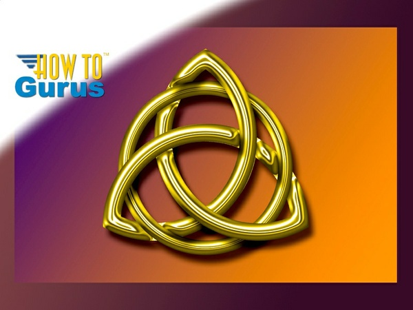 How To Make a Gold Metallic Celtic Knot in Photoshop Elements 15 14 13 12 11 Tutorial