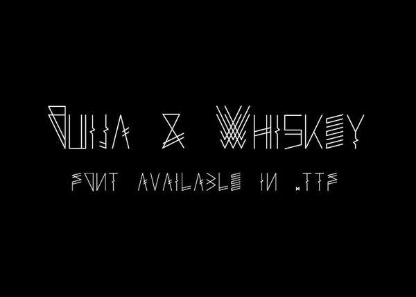 Ouija & Whiskey - font.