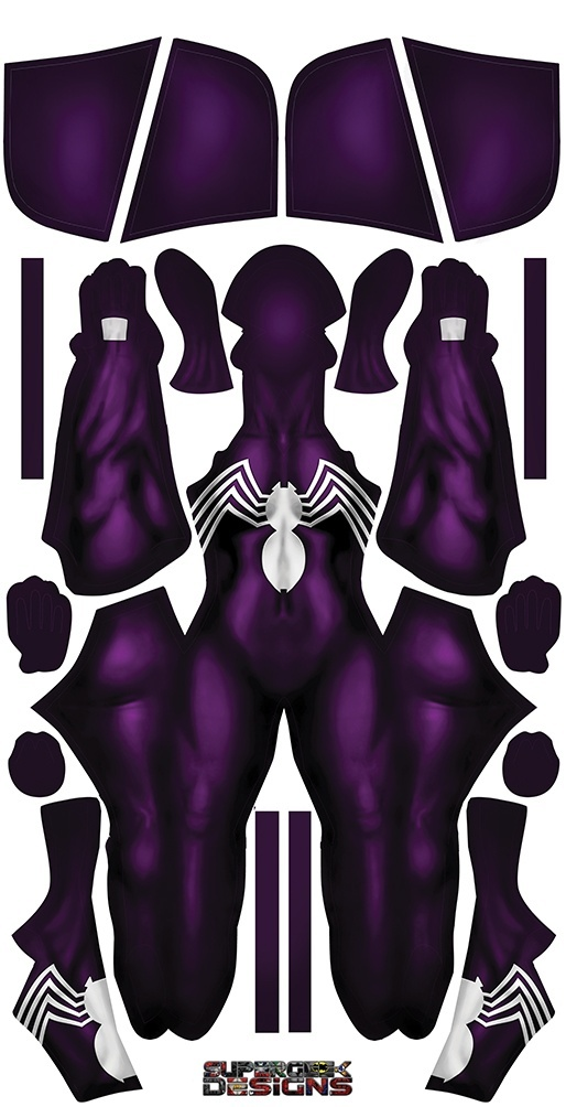 PURPLE SYMBIOTE HOODED FEMALE pattern file