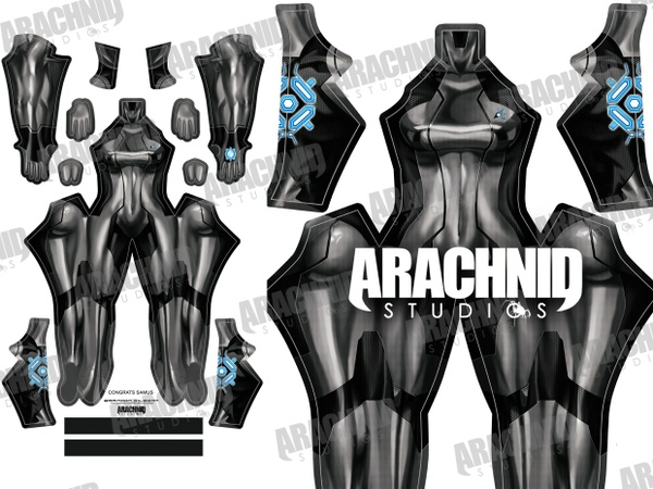 Samus Zero Suit (Black) Dye-sub pattern