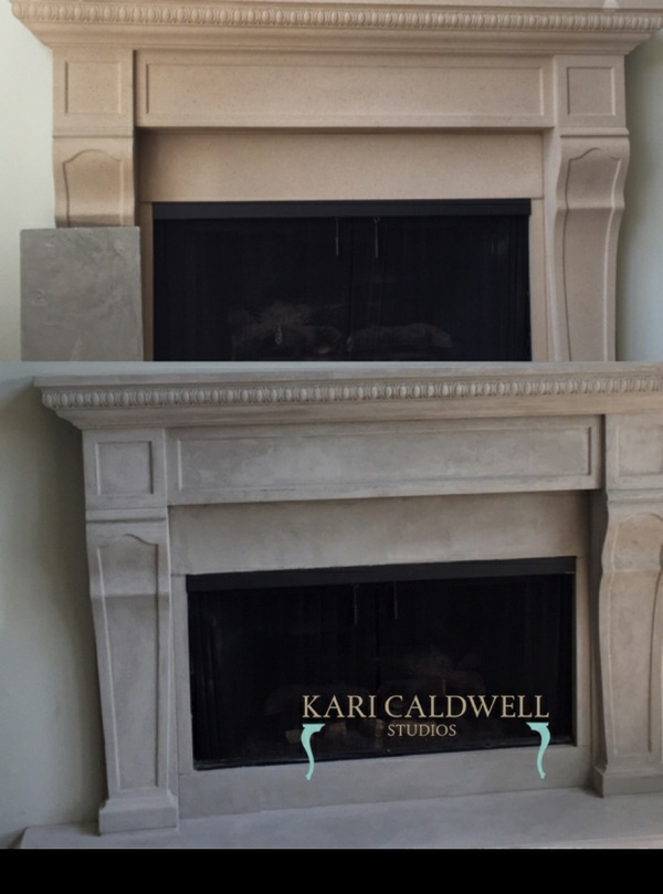Plaster Fireplace (grey finish)