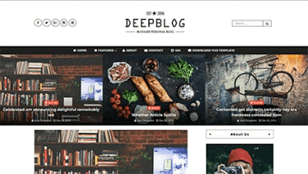 Deep Blog Blogger Template Premium Version