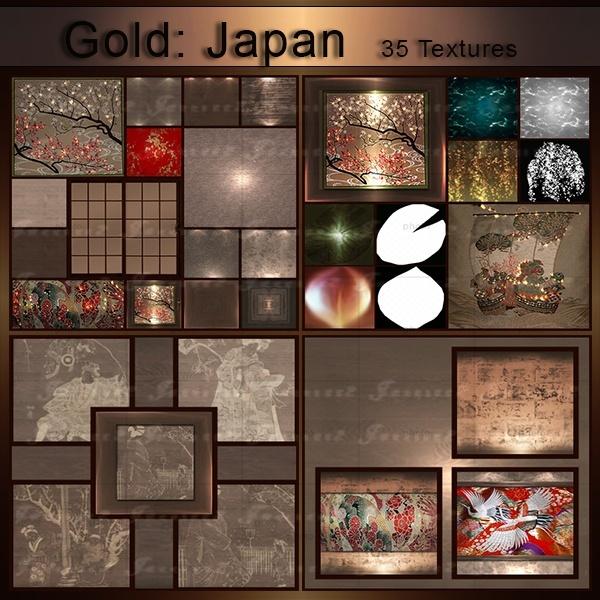 Gold Japan-35 Textures