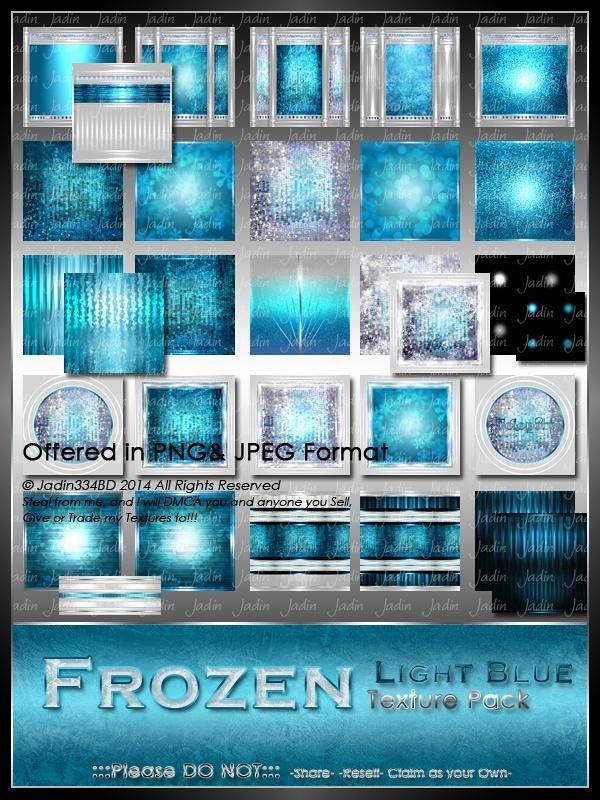 Frozen: Light Blue Texture Pack-- $4.00