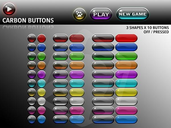 Carbon buttons