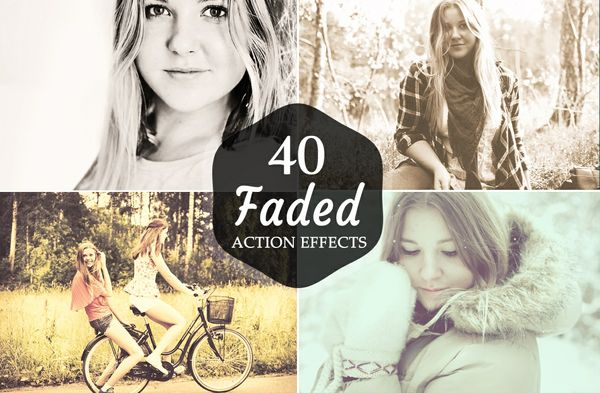 40 Premium Faded and Matte Photoshop Action