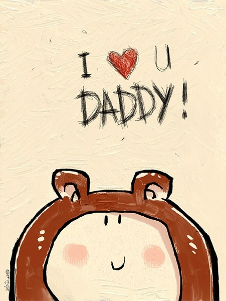 I LOVE YOU DADDY! A3 300dpi