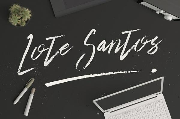 Lote Santos Font Typeface Brush Handmade