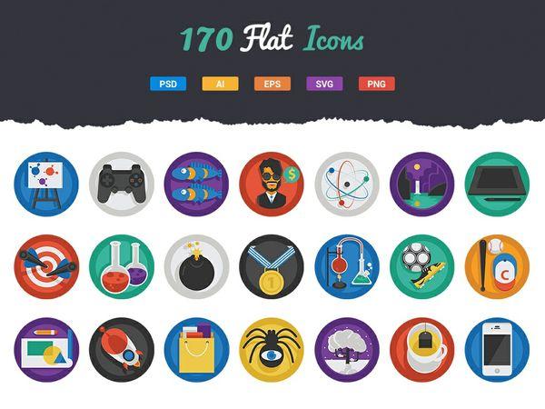 170 Fresh Round Icons