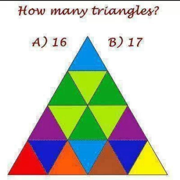 How many triangles do you see? - The animated solution!