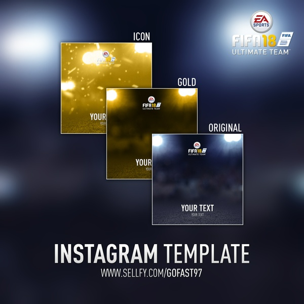 FUT 18 INSTAGRAM TEMPLATE