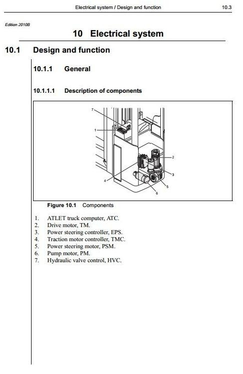 Atlet Reach Truck Type X-Ergo, XLL-Ergo, XML-Ergo, XTF-Ergo Workshop Service Manual