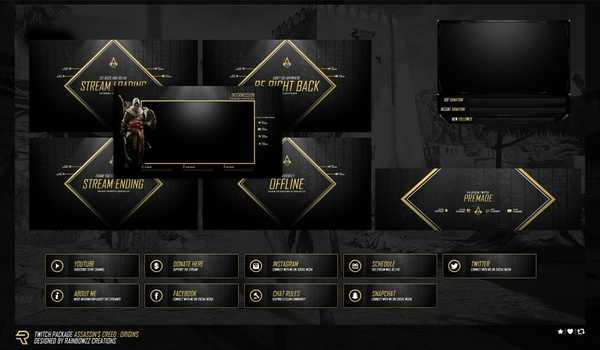 Assassin's Creed Origins Twitch Package