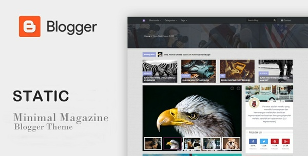 New Static Magz SEO Responsive Blogger Template