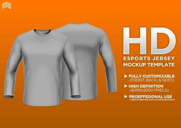 HD Professional Long Sleeve Apparel Mockup PSD