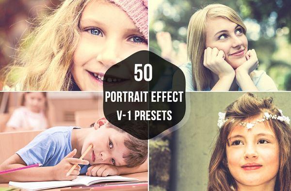 50 Premium Portrait Lightroom Presets