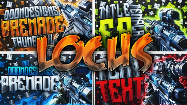 Black Ops 3 Thumbnail Template Pack - Locus Sniper Rifle Edition - Updated