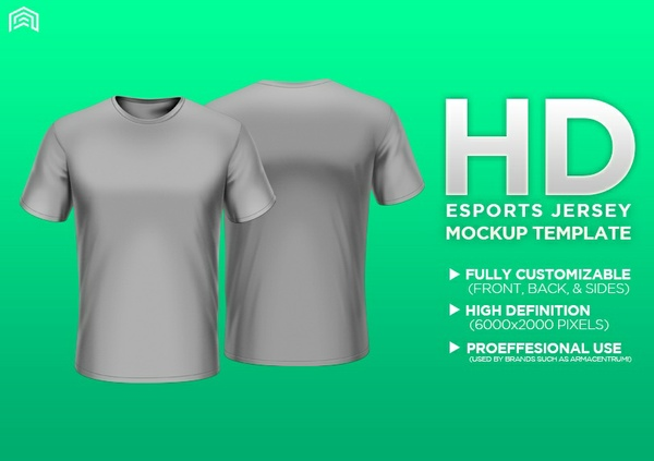 HD Professional Short Sleeve Apparel Mockup PSD