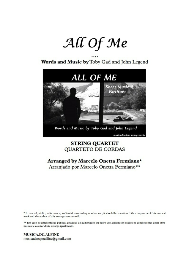 All of Me - String Quartet - Score and parts in A.pdf