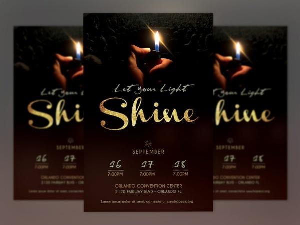 Shine Church Flyer Poster-Photoshop