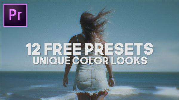 12 PRESETS - UNIQUE COLOR LOOKS (Premiere Pro)