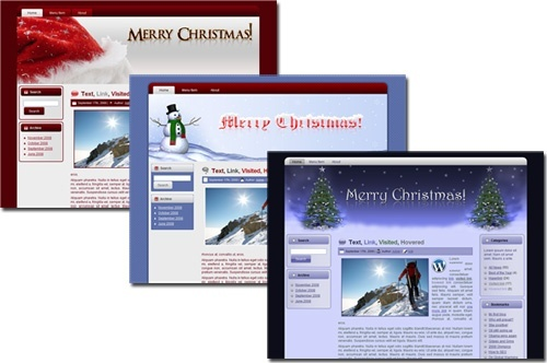 Christmas Wordpress, Blogger and HTML Templates - MRR