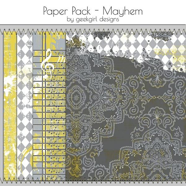 Mayhem Paper Pack by geekgirl designs