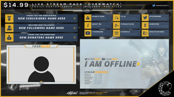"""Overwatch"" pre-made livestream pack!"