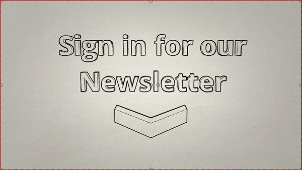 "Video Outro ""Sign in for our Newsletter"" Pencil Sketch"